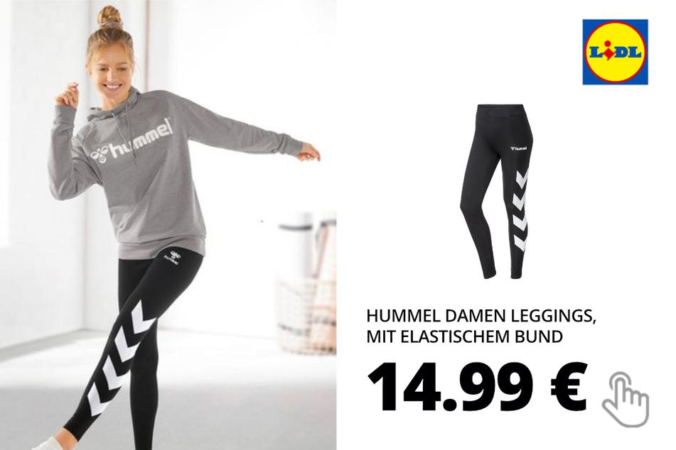 Hummel Damen Leggings, mit elastischem Bund