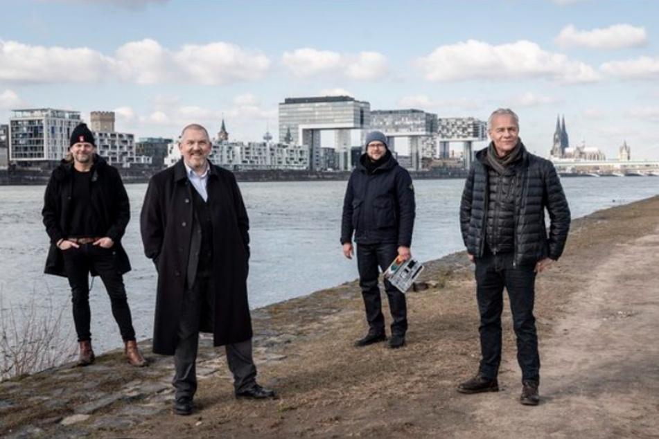 V.l.n.r.: Jan Kruse (Produzent), Freddy Schenk (Dietmar Bär), Markus Weiler (Regie), Max Ballauf (Klaus J. Behrendt)
