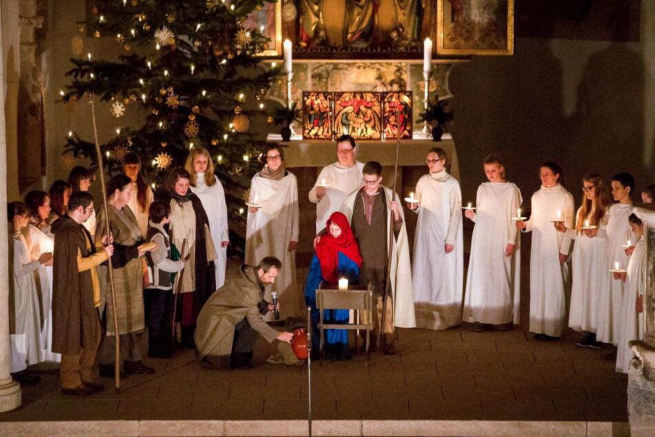 Krippenspiele gehören eigentlich fest zu Weihnachten, wie hier in der Schloßkirche. Doch dieses Jahr wird alles anders.