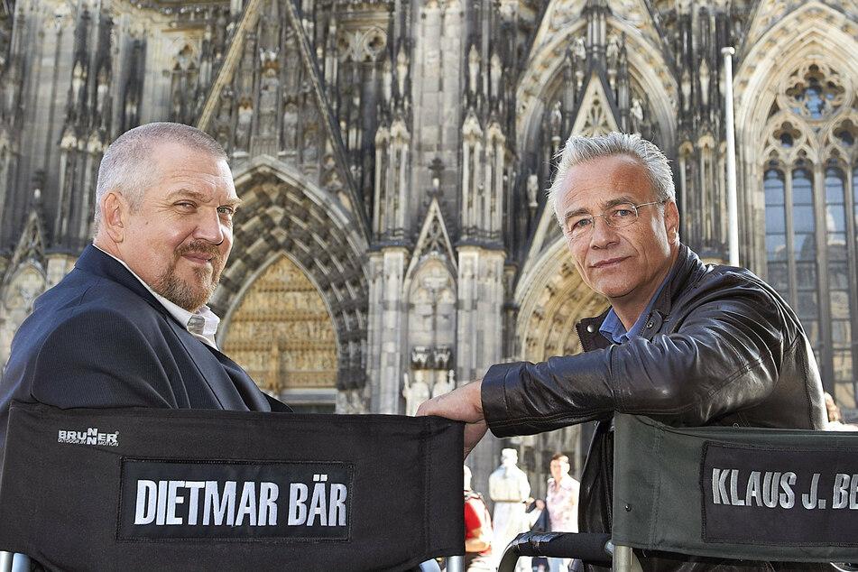 """Start der Dreharbeiten: Klaus J. Behrendt (60) und Dietmar Bär (59) stehen für einen neuen """"Tatort"""" vor der Kamera (Archivbild)."""