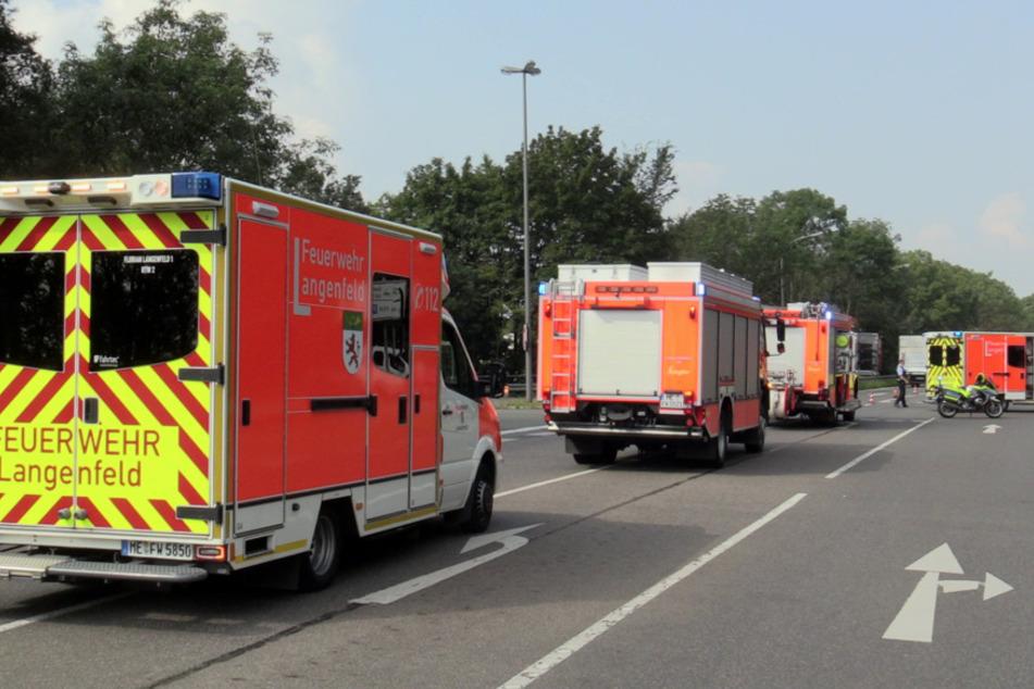 Feuerwehr und Sanitäter waren im Einsatz.