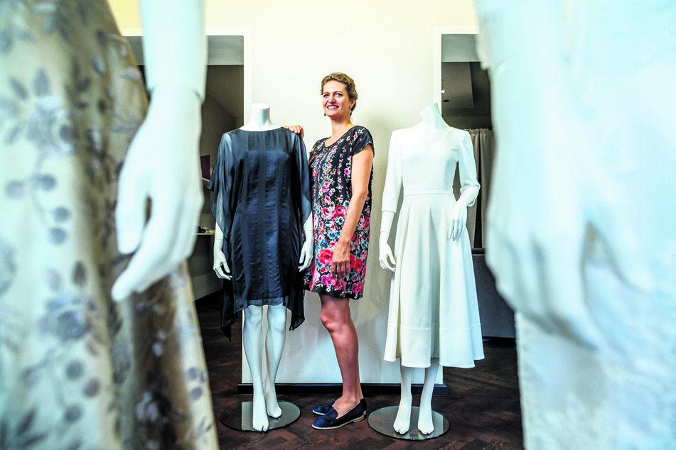Macht jetzt auch Mode im Netz: Die Dresdner Designerin Dorothea Michalk (38) eröffnet erstmals einen Onlineshop mit ihren Kreationen.