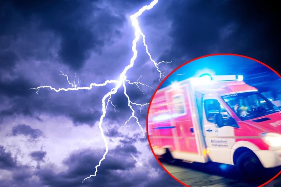 Die Frau habe durch den Blitz schwere Verletzungen erlitten und kam ins Krankenhaus. (Symbolbild)