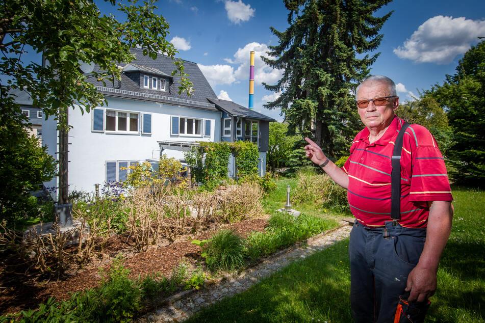 Rentner Dietmar Pilz (77) wohnt in der Nähe des Kraftwerks und wehrt sich in der Bürgerinitiative Glücksberg gegen die Müllverbrennungs-Pläne.