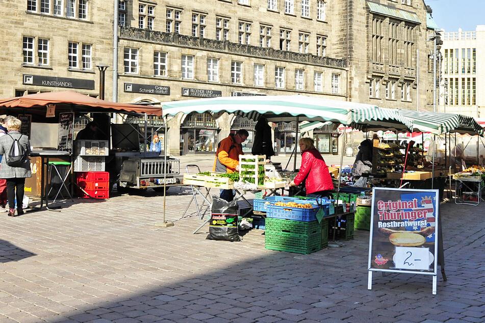 Chemnitzer Wochenmarkt darf heute wieder öffnen