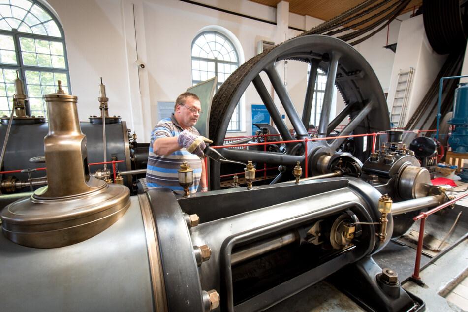 Im Stadt- und Dampfmaschinenmuseum gibt es viel zu entdecken - wie beispielsweise diese mehr als 100-jährige Dampfmaschine.