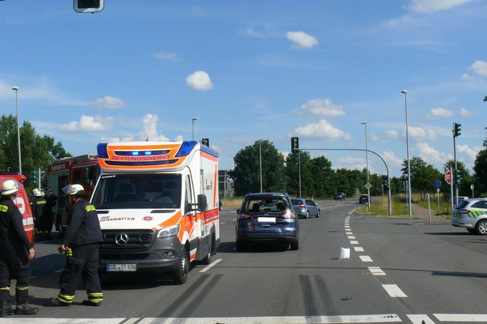 Auch der 39-jährige Fahrer des Motorrads wurde bei dem Crash schwer verletzt.