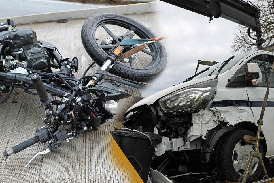Tödliches Überholmanöver: Biker stirbt noch am Unfallort