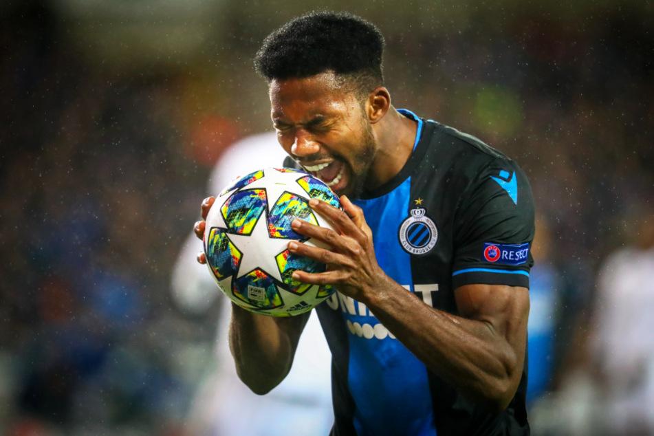 Emmanuel Dennis verzweifelt in dieser Szene. Doch international machte der Stürmer des FC Brügge in dieser Saison nachhaltig auf sich aufmerksam.