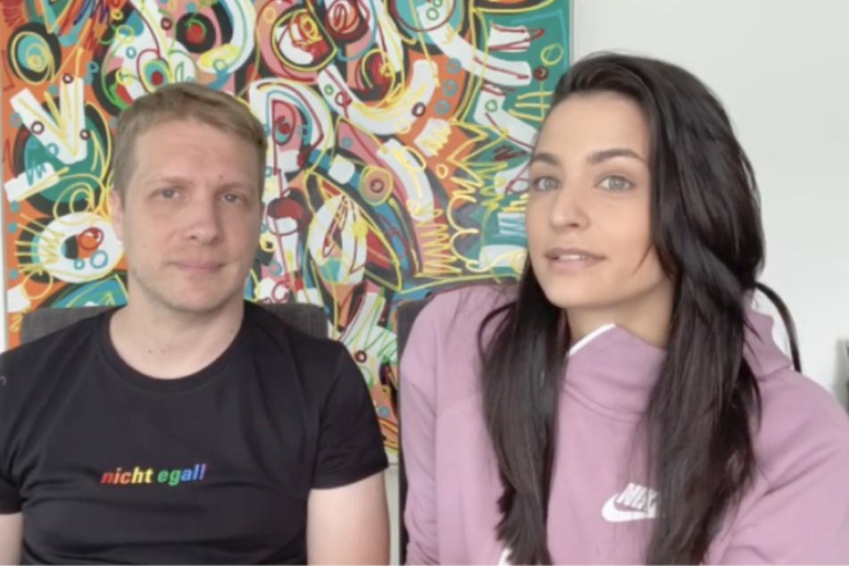 Oliver Pocher (42) und Frau Amira (27) kritisieren Kinderbilder im Netz.