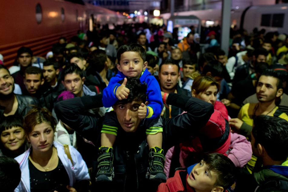 Flüchtlinge am Hauptbahnhof München. (Archiv)