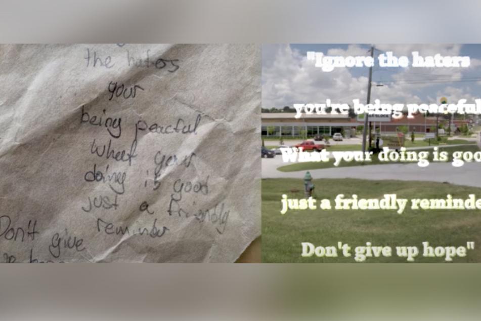 Am Ende erhält Bliss diesen hoffnungsvollen Brief von einem kleinen Mädchen.