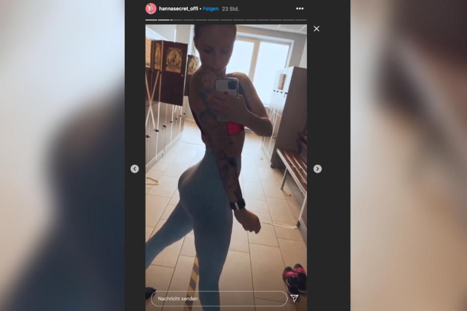 Hanna Secret (24) zeigt auf Instagram das Ergebnis ihres Workouts.