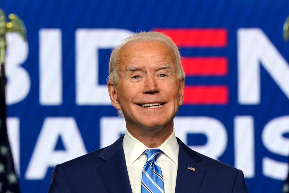 Joe Biden, Präsidentschaftskandidat der Demokraten, hält in Wilmington eine Rede.