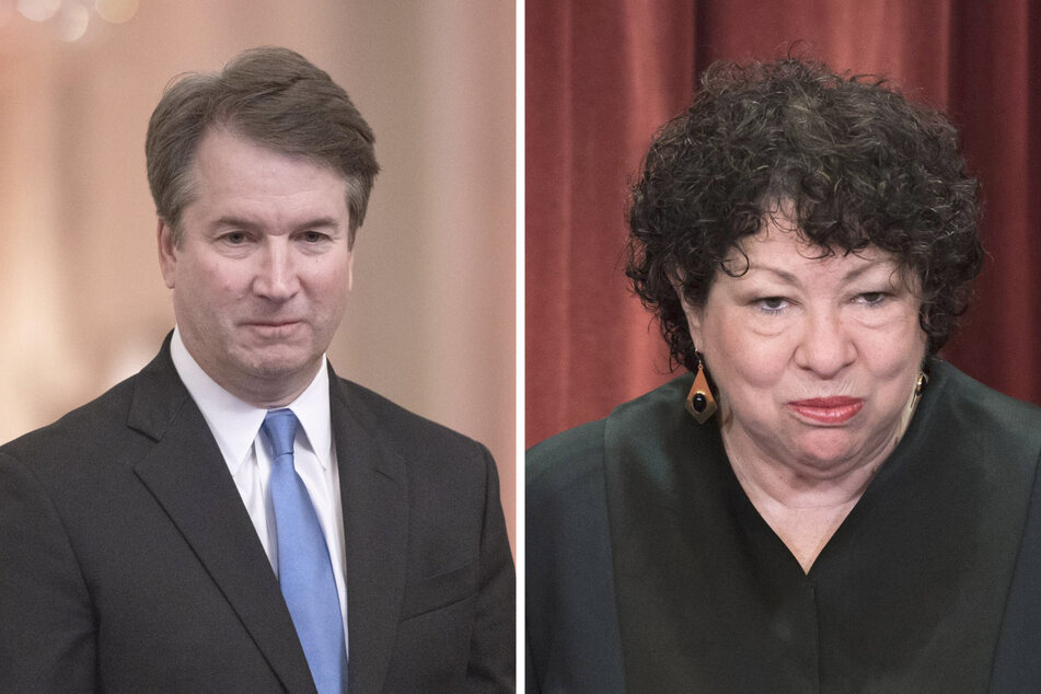 Justice Brett Kavanaugh (l.) and Justice Sotomayor sparred over the decision whether or not to okay life sentences for minors.
