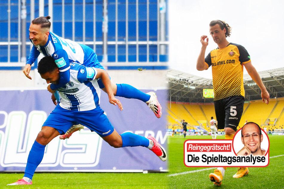 Dynamo-Chaos, FCM-Siegeszug, Würzburger Fast-Abstieg: Viel los im Profifußball!