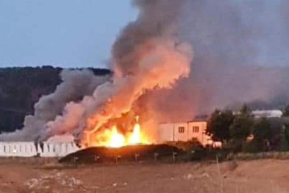 Brand in Flüchtlingsheim: Bewohner soll gezündelt haben
