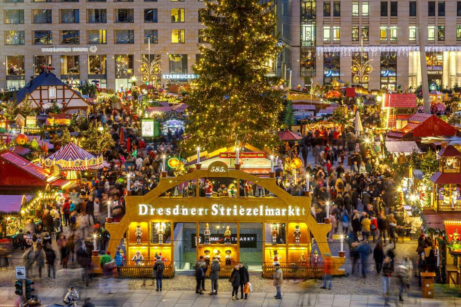 Der Striezelmarkt fand im vergangenen Jahr zum 585. Mal statt - mit vielen Besuchern.
