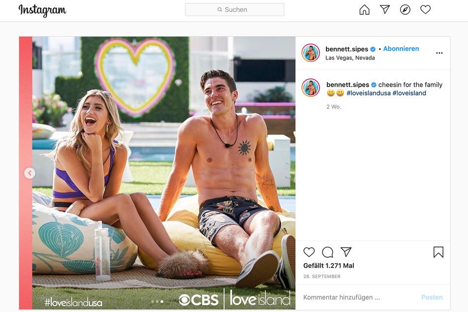 """Bennett Sipes (26) trat kürzlich in der TV-Show """"Love Island"""" auf."""