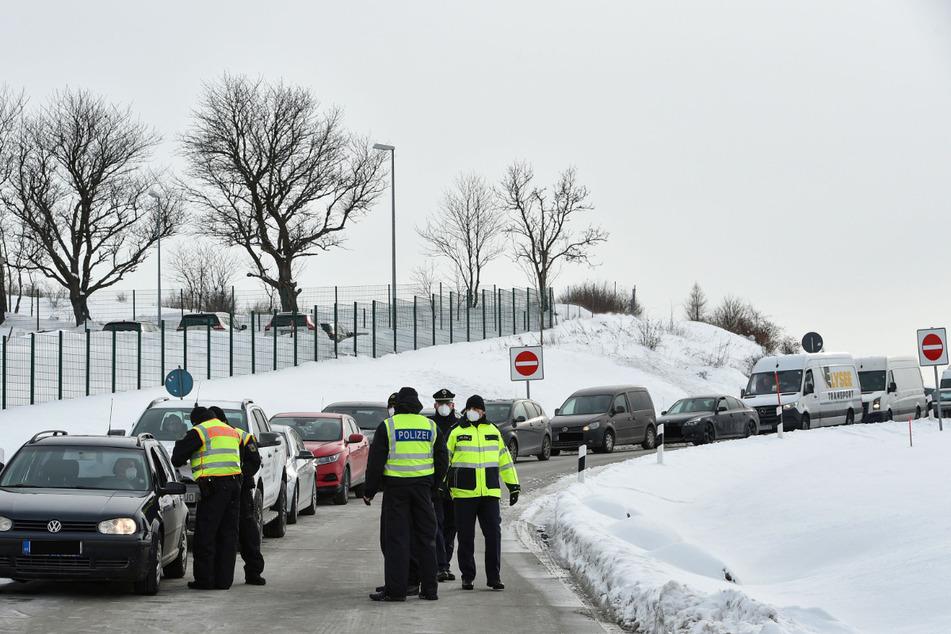 Bei den Kontrollen an der sächsisch-tschechischen Grenze wurde jeder Dritte abgewiesen.