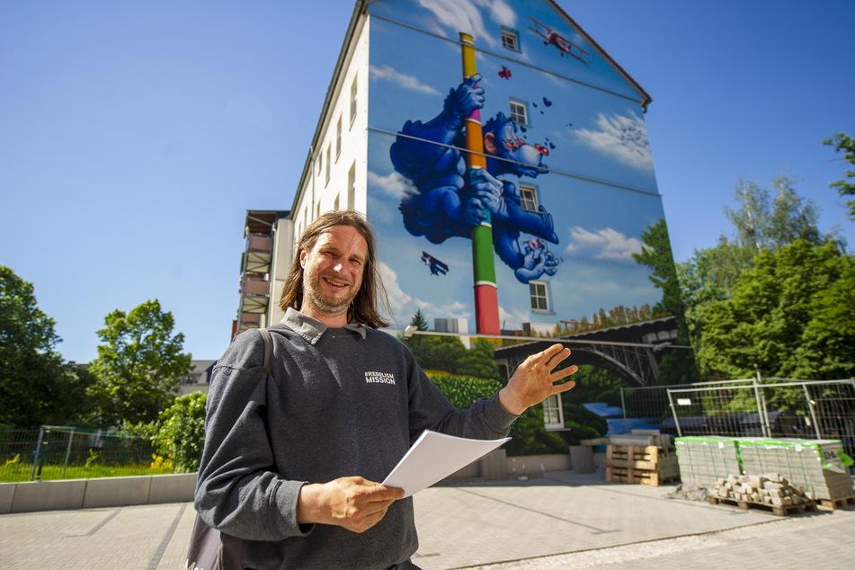 """""""Rebel Art""""-Chef Guido Günther (31) will Chemnitz bunter machen."""