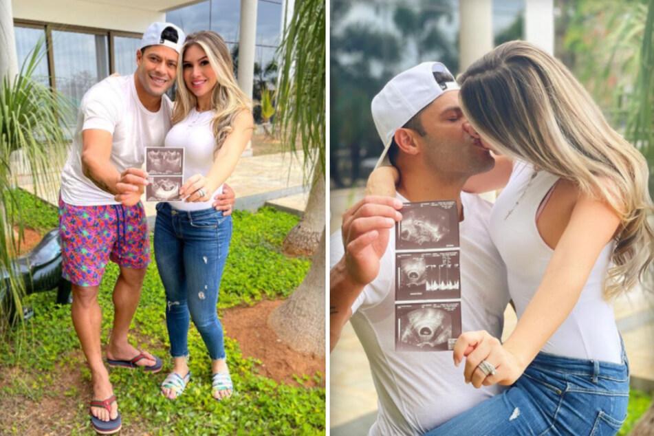 Hulk (35) zeigt sich verliebt mit seiner Frau Camila Angelo (32) im Internet. Seit 2020 ist der Kicker mit der Nichte seiner Ex-Frau verheiratet.
