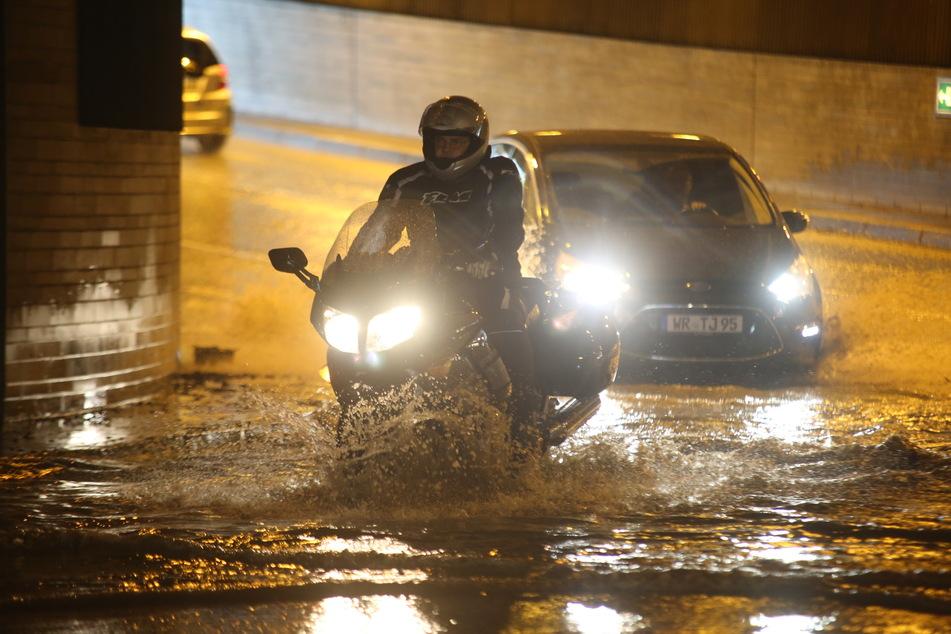 Starkregen sorgte am Samstag auch in Wernigerode und im Umland für Überschwemmungen.