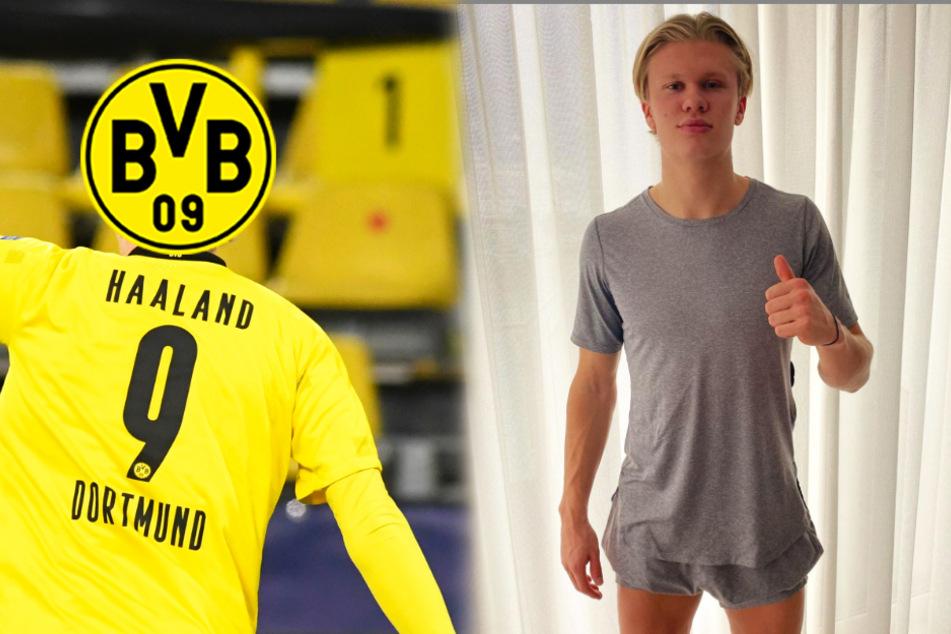 BVB-Stürmer Haaland gibt Verletzungs-Update, aber alle Blicke wandern auf seine Beine