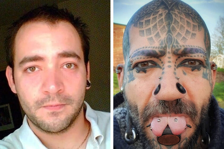 Tattooed dad turns to blowtorches and extreme body modifications to beat depression