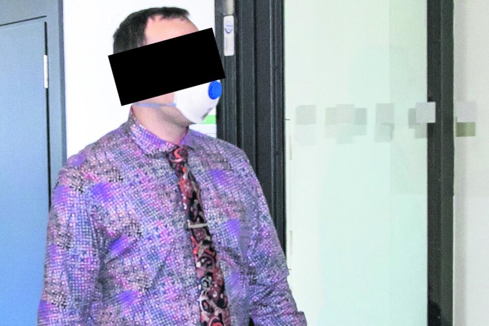 Der IT-Berater Sven M. (32) agierte vorm Ortsamt recht hitzköpfig.