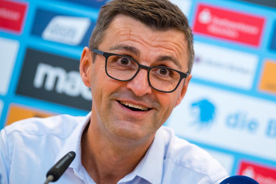 Michael Köllner (51), Trainer des TSV 1860 München, sieht seinen Verein in guter Position für den Aufstiegskampf.