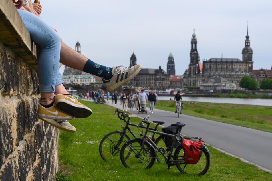 Der Elberadweg ist Teil der Wettkampfstrecke beim Ironman 70.3 in Dresden.