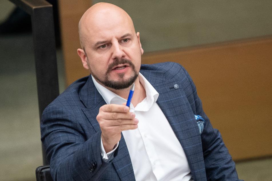 Stefan Räpple im Stuttgarter Landtag.