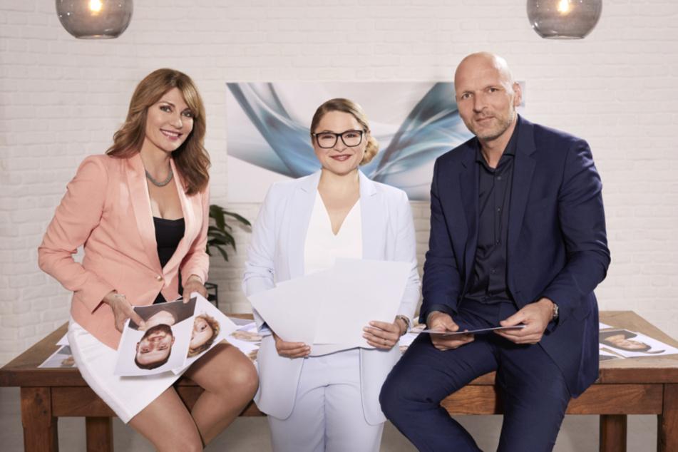 """Beate Quinn. Sandra Köhldorfer und Markus Ernst sind die Experten beim Format """"Hochzeit auf den ersten Blick""""."""