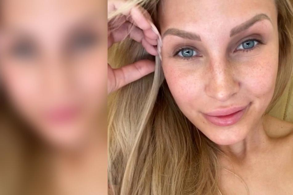 BTN-Star Laura Vetter grüßt aus dem Pool und lässt tief blicken