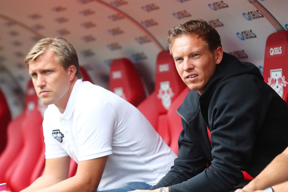 Julian Nagelsmann (33, re.) ist der Wunschkandidat für die Nachfolge von Hansi Flick bei den Bayern und auch Markus Krösche (40) wird derzeit häufiger mit anderen Klubs in Verbindung gebracht.