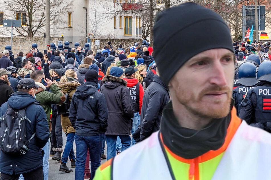 Dresden: 5000 Euro! Nach Samstags-Demo bekommt Querdenken-Kopf Marcus Fuchs die Rechnung