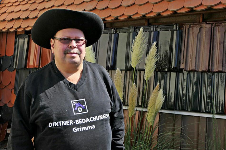 Dachdeckermeister Udo Dintner (58) aus Grimma findet seit zwei Jahren keinen Berufs-Nachwuchs.