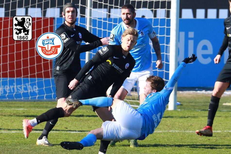 Trotz langer Überzahl: TSV 1860 München nur Unentschieden gegen Hansa Rostock