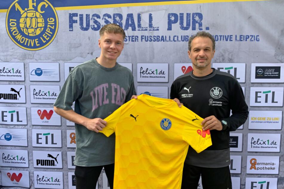 Niklas Schneider (l.) ist bereit für den nächsten Schritt beim Traditionsverein in Probstheida.