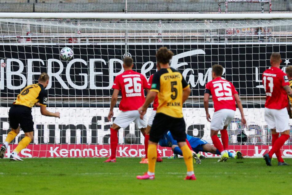 Sebastian Mai (l.) war zur richtigen Zeit an der richtigen Stelle und nickte zum am Ende entscheidenden Treffer ein.