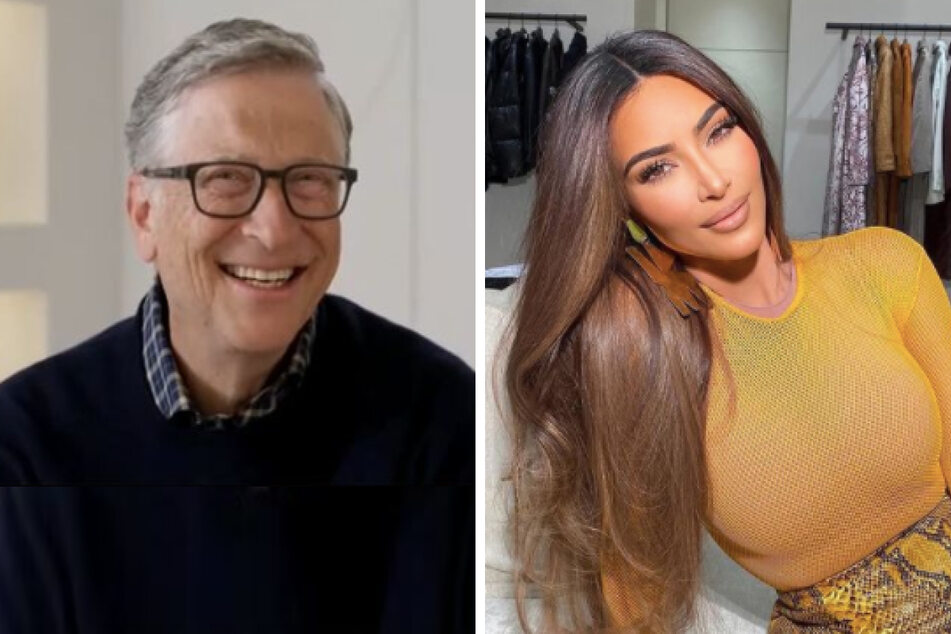 Bill Gates (65) (l.) and Kim Kardashian are about to both be recently divorced single billionaires.