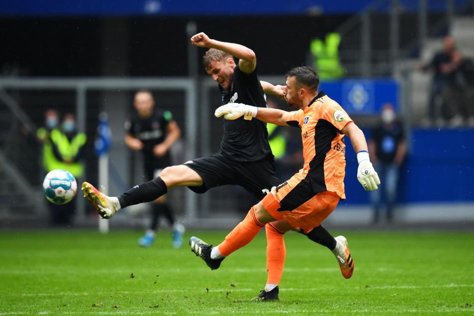Christoph Daferner (23) ackerte auch gegen den HSV gewohnt viel, konnte sich offensiv aber nicht entscheidend in Szene setzen.