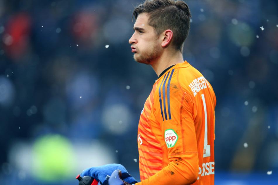 Torwart Julian Pollersbeck (26) könnte vom HSV zu Olympique Lyon nach Frankreich wechseln. (Archivfoto)