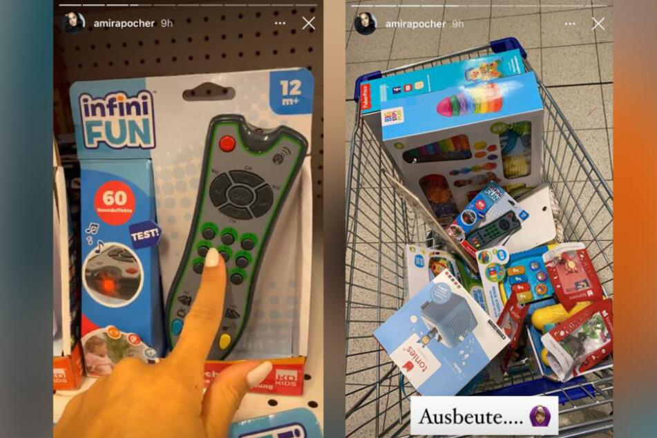 Amira Pocher (27) kaufte ihrem Sohn eine Spielzeugfernbedienung - damit er zukünftig nicht mehr an die der Erwachsenen geht.