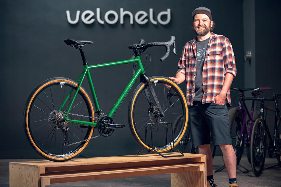 Michael Nikolai (37) arbeitet für den Vertrieb und Verkauf der Rad-Manufaktur Veloheld aus Dresden.