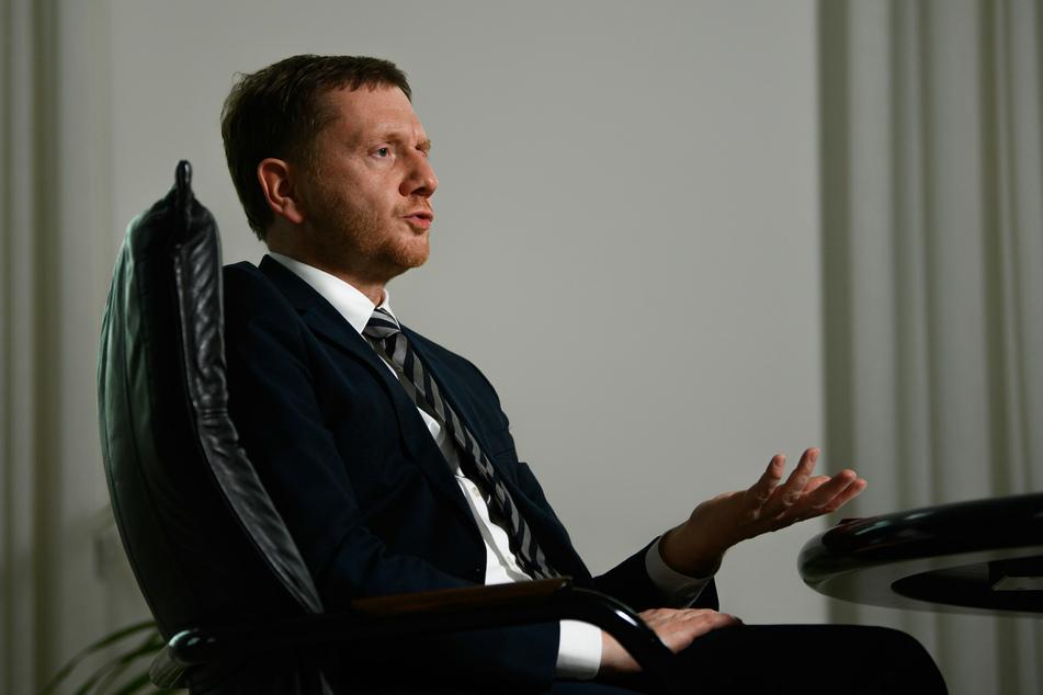 MP Kretschmer (45, CDU) hat einen schärferen Lockdown im Freistaat ausgeschlossen.