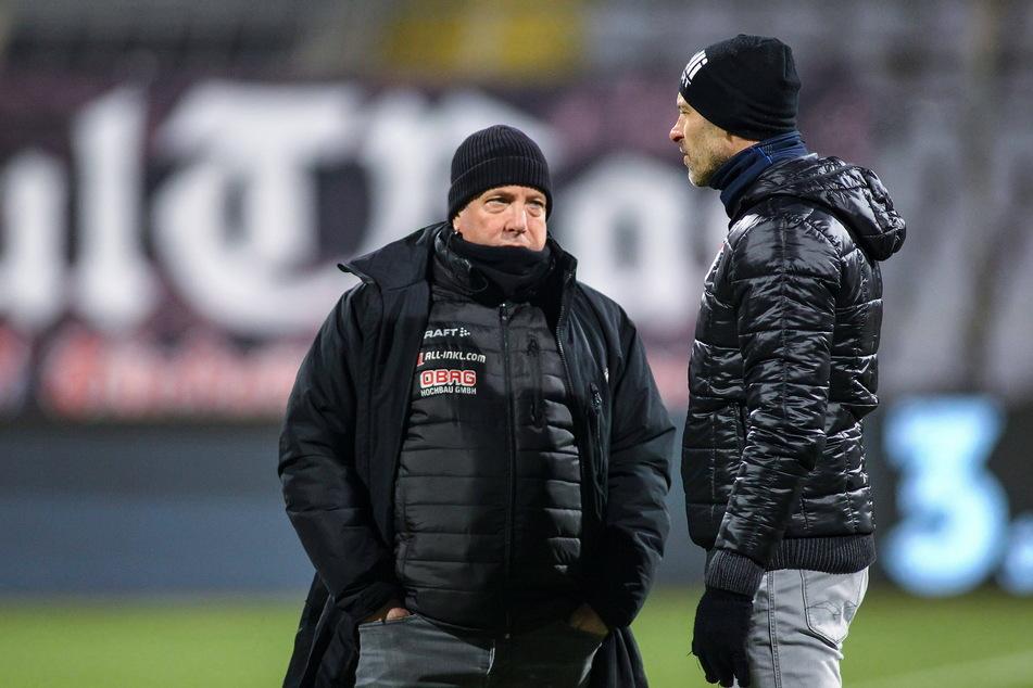 Kauczinskis Kollege Alexander Schmidt (52, r.) musste bei Türkgücü gehen.