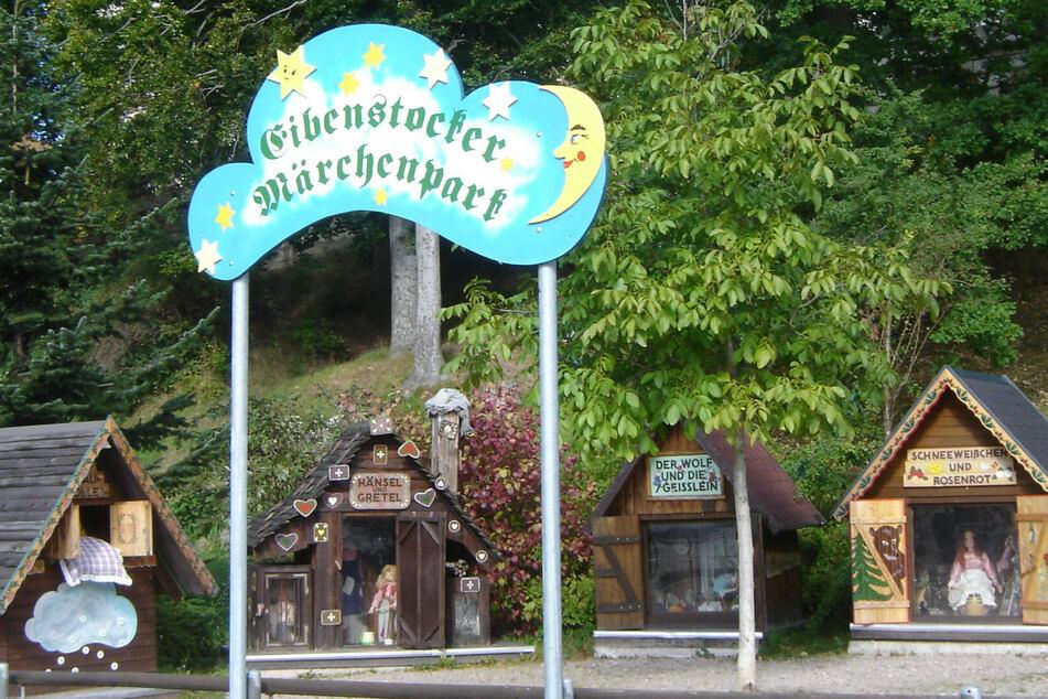 Der Märchenpark am Markt in Eibenstock.