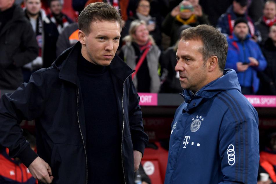 FCB-Trainer Hansi Flick (55, r.) und RB-Coach Julian Nagelsmann (33) wollen in Lissabon nach der Champions-League-Krone greifen.